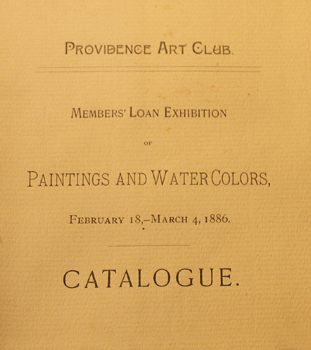 THUMBNAIL - 1886, February 18-March 4, Members' Loan Exhibition of Paintings and Watercolors