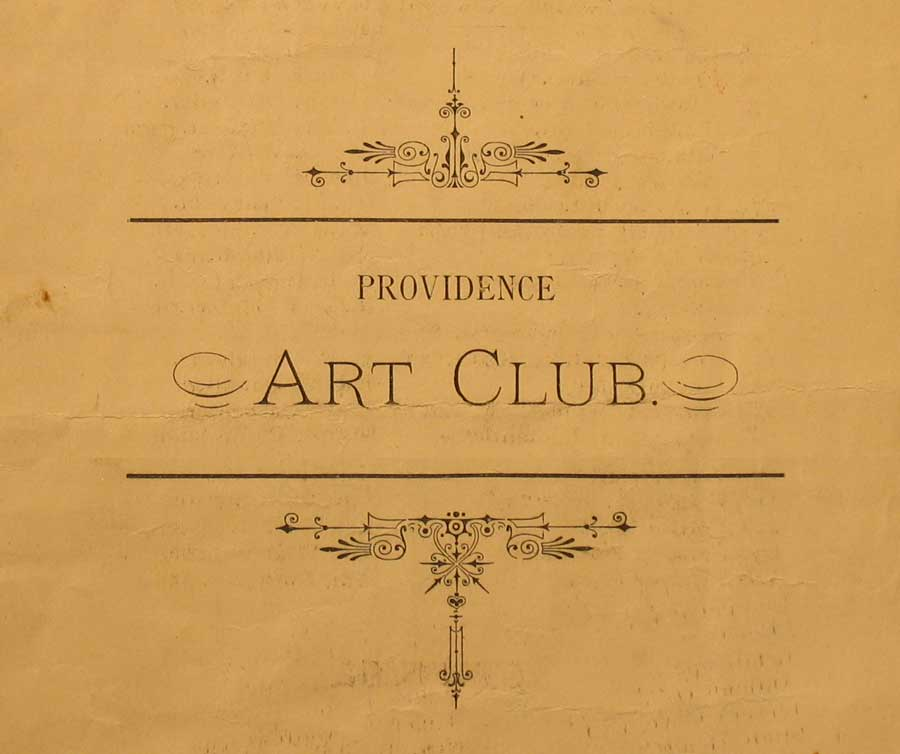Povidence Art Club Documents