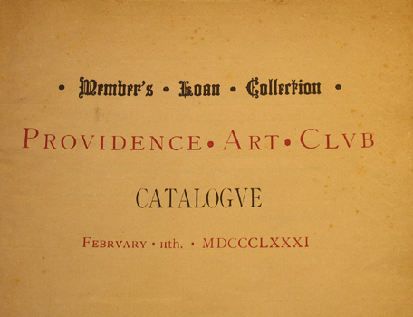 2/11/1881, Member's Loan Collection