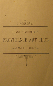 Providence Art Club 1880, May 11, First Exhibition